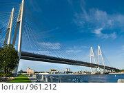 Купить «Обуховский (вантовый) мост в Санкт-Петербурге», фото № 961212, снято 3 июля 2009 г. (c) Кекяляйнен Андрей / Фотобанк Лори