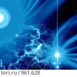 Купить «Абстрактный фон с молниями для дизайна», иллюстрация № 961628 (c) ElenArt / Фотобанк Лори