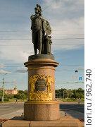 Купить «Памятник генералиссимусу А.В.Суворову. Санкт-Петербург», эксклюзивное фото № 962740, снято 18 июня 2009 г. (c) Александр Алексеев / Фотобанк Лори