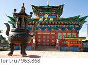 Купить «Буддийский храм. Иволгинский дацан. Бурятия», фото № 963868, снято 8 июня 2009 г. (c) Александр Подшивалов / Фотобанк Лори