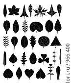 Купить «Формы листьев», иллюстрация № 966400 (c) Гульнара Магданова / Фотобанк Лори