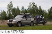 Купить «Транспортирование гоночных мотоциклов», фото № 970732, снято 4 июля 2009 г. (c) Коротеев Сергей / Фотобанк Лори