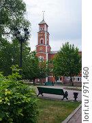 Купить «Оренбург. Башня с часами на улице Советской», эксклюзивное фото № 971460, снято 30 июня 2009 г. (c) Кучкаев Марат / Фотобанк Лори