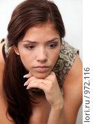 Купить «Портрет юной красавицы», фото № 972116, снято 10 июля 2009 г. (c) Павел Гундич / Фотобанк Лори