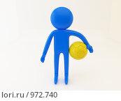 Купить «Человек с мячом», иллюстрация № 972740 (c) Арсений Васильев / Фотобанк Лори