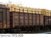 Купить «Товарный состав, стоящий на станции», фото № 972920, снято 14 июня 2009 г. (c) Александр Подшивалов / Фотобанк Лори