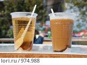 Напитки: кофе и чай. Стоковое фото, фотограф Ксения Шаханова / Фотобанк Лори