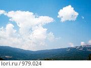 Купить «Горы, Крым», фото № 979024, снято 6 августа 2008 г. (c) Сергей Сухоруков / Фотобанк Лори