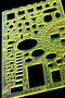 Школьный шаблон с линейкой и транспортиром, фото № 979560, снято 15 июля 2009 г. (c) Угоренков Александр / Фотобанк Лори