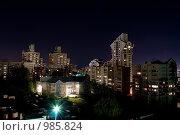 Купить «Вид на ночной город Барнаул с высоты», фото № 985824, снято 18 июля 2009 г. (c) Демченко Павел / Фотобанк Лори