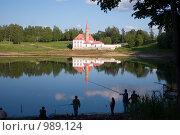 Купить «Рыбаки на Черном озере. г. Гатчина», эксклюзивное фото № 989124, снято 11 июня 2009 г. (c) Сергей Шустов / Фотобанк Лори