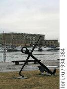Купить «Городской пейзаж. Вид на королевский дворец.  (Стокгольм, Швеция)», фото № 994384, снято 16 марта 2009 г. (c) Александр Секретарев / Фотобанк Лори