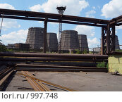 Купить «Промышленные градирни», фото № 997748, снято 6 августа 2008 г. (c) Кекяляйнен Андрей / Фотобанк Лори