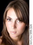 Купить «Портрет кареглазой девушки», фото № 999324, снято 26 июня 2008 г. (c) Сергей Сухоруков / Фотобанк Лори