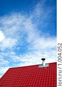 Купить «Черепичная крыша и печная труба», фото № 1004052, снято 4 июля 2009 г. (c) Алексей Лебедев / Фотобанк Лори