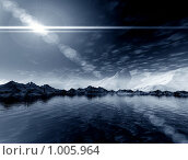 Купить «Фантастический свет. 3 d пейзаж», иллюстрация № 1005964 (c) ElenArt / Фотобанк Лори