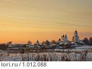 Никитский монастырь на закате. Переславль-Залесский (2009 год). Стоковое фото, фотограф Луговой Даниил / Фотобанк Лори