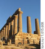 Купить «Храм Геры, провинция Агридженто, Сицилия», фото № 1015608, снято 31 декабря 2006 г. (c) Chumakov Nina / Фотобанк Лори