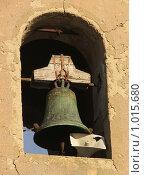 Купить «Старый колокол, фрагмент храма на Сицилии», фото № 1015680, снято 30 декабря 2006 г. (c) Chumakov Nina / Фотобанк Лори