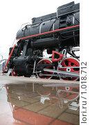 Купить «Паровоз с отражением в луже», фото № 1018712, снято 15 сентября 2019 г. (c) Losevsky Pavel / Фотобанк Лори