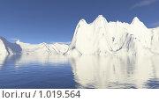 Купить «Заснеженные горы и вода», иллюстрация № 1019564 (c) Losevsky Pavel / Фотобанк Лори