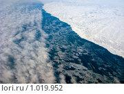 Облака, океан и побережье Гренландии (2009 год). Стоковое фото, фотограф Сергей Орлов / Фотобанк Лори