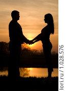 Купить «Силуэт пары на закате», фото № 1028576, снято 9 мая 2009 г. (c) Насыров Руслан / Фотобанк Лори