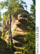 Купить «Скала. Заповедник Столбы. Красноярск», фото № 1034208, снято 9 августа 2009 г. (c) Типляшина Евгения / Фотобанк Лори