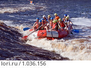 Купить «Рафтинг в Карелии на реке Шуя», фото № 1036156, снято 8 августа 2009 г. (c) Дмитрий Черевко / Фотобанк Лори