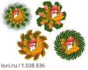 Купить «Иконки с мухоморами», иллюстрация № 1038836 (c) Марина Рядовкина / Фотобанк Лори