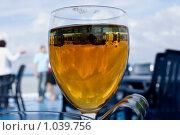 Купить «Бокал вина на фоне отдыхающих», фото № 1039756, снято 1 августа 2009 г. (c) Степан Меркулов / Фотобанк Лори