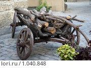 Старая телега с дровами. Стоковое фото, фотограф Виктор Косьянчук / Фотобанк Лори