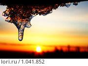 Сосулька. Стоковое фото, фотограф Баскаков Андрей / Фотобанк Лори