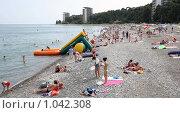 Купить «Пицунда, пляж,», фото № 1042308, снято 17 июля 2009 г. (c) Виктор Филиппович Погонцев / Фотобанк Лори