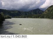 Купить «Горная река Катунь. Алтай», фото № 1043860, снято 24 июля 2009 г. (c) Юлия Машкова / Фотобанк Лори