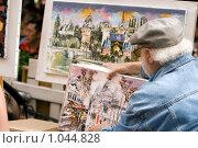 Купить «Уличный художник выставляет свои работы, Монмартр,Париж,Франция», фото № 1044828, снято 29 июля 2009 г. (c) Игорь Киселёв / Фотобанк Лори