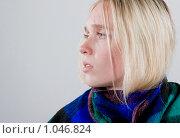 Простуженная девушка. Стоковое фото, фотограф Леонид Козлов / Фотобанк Лори