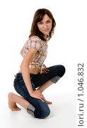 Девушка, одетая в молодежном стиле. Стоковое фото, фотограф Леонид Козлов / Фотобанк Лори