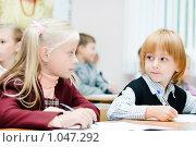 Купить «Ученики начальной школы», фото № 1047292, снято 20 августа 2009 г. (c) Евгений Захаров / Фотобанк Лори