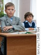 Купить «Мальчишки на уроке», фото № 1049164, снято 20 августа 2009 г. (c) Оксана Гильман / Фотобанк Лори