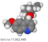 Купить «Полусферическая (объемная) модель молекулы хинина», иллюстрация № 1062448 (c) Владимир Федорчук / Фотобанк Лори