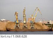 Купить «Портовые краны», фото № 1068628, снято 5 сентября 2008 г. (c) Андрей Ерофеев / Фотобанк Лори