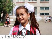 Купить «Портрет школьницы», фото № 1070704, снято 1 сентября 2009 г. (c) Дорощенко Элла / Фотобанк Лори