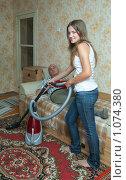 Купить «Уборка в квартире», фото № 1074380, снято 6 сентября 2009 г. (c) Яков Филимонов / Фотобанк Лори