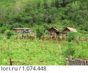 Купить «Дом в горах», фото № 1074448, снято 2 августа 2009 г. (c) Зуев Андрей / Фотобанк Лори