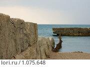 Старый волнолом. Стоковое фото, фотограф Виктор Косьянчук / Фотобанк Лори