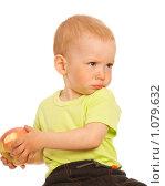 Купить «Мальчик с яблоком», фото № 1079632, снято 18 мая 2008 г. (c) Валентин Мосичев / Фотобанк Лори