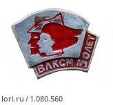Купить «Значок 50 лет ВЛКСМ», фото № 1080560, снято 3 апреля 2020 г. (c) Валерий Лаврушин / Фотобанк Лори