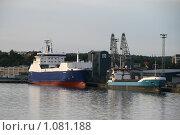 Купить «Судно в порту города Турку (Финляндия)», фото № 1081188, снято 2 августа 2009 г. (c) Александр Секретарев / Фотобанк Лори