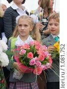Купить «Первый раз в первый класс!», фото № 1081752, снято 1 сентября 2009 г. (c) Оксана Гильман / Фотобанк Лори